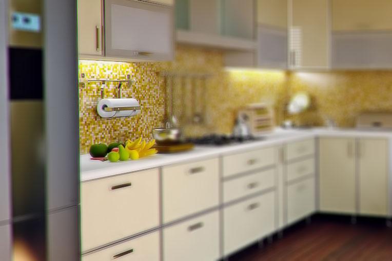 Wiszący wieszak na ręcznik papierowy ze stali nierdzewnej w kuchni